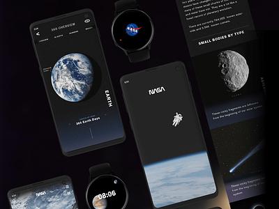 NASA App Redesign galaxy s10 gui universe space moon galaxy earth uidesign mars nasa app design branding ux ui