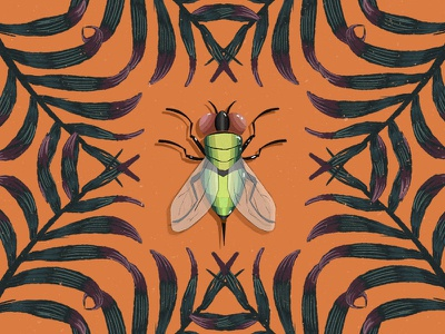 Tiny Creatures of Paradise (1/3) digitalpaint tropical colors digital art artph illustration insects fly