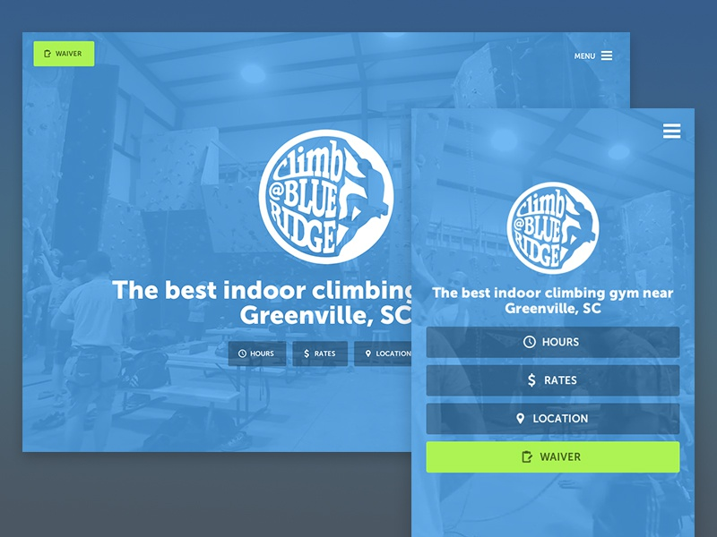 Climbing Gym Website - Homepage website homepage responsive climbing gym