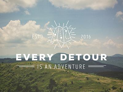 Every Detour mountains path icon detour map outdoors logo adventure