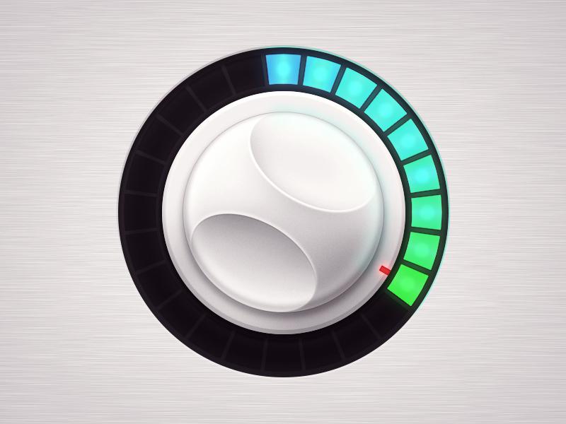 Control Knob dial control knob led volume ui