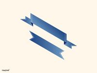 isometric gradient banner