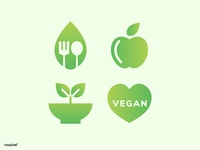simple vegan icon