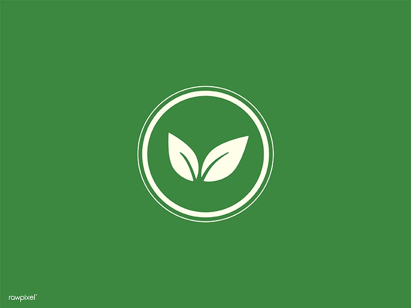simple vegan icon by NingZk V  for rawpixel on Dribbble
