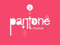Pantone 191C / #F4476B