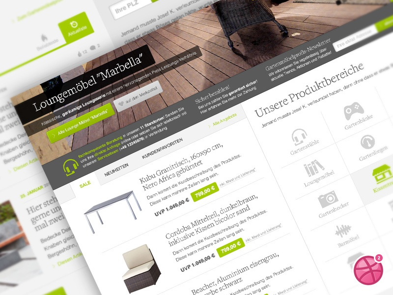 Online Store Layout shop store webshop oxid ecommerce design dribbble invites bootstrap layout gardening garden lounge furniture outdoor clean minimal typo times invite website