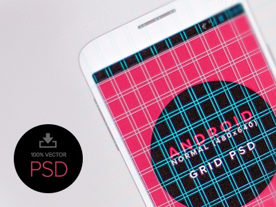 Android Design Grid Template PSD - Normal (480 x 800) - Vector