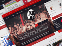 SC Freiburg Website - Redesign & Relaunch Pitch