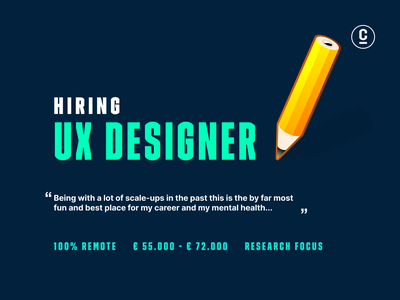 Hiring Remote UX Designers with a focus on the research Job. researcher designer ux work job remote