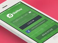 Dial4Me - iOS Login Form