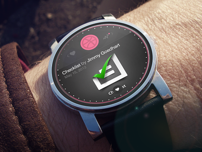 Dribbble App - Android Wear Concept