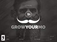 Grow your mo - Movember feelings from L'Oreal via LinkedIN