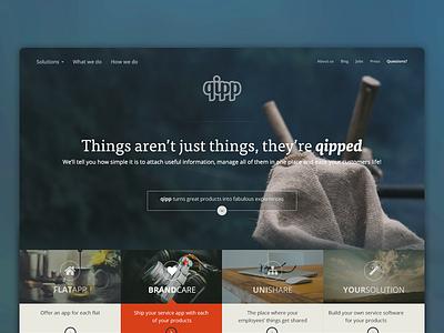 Hero Video + Header Section - QIPP hero video header navigation animation transparent image website design typography
