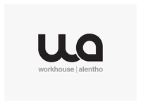 clean, minimal style logo design - monogram - workhouse alentho
