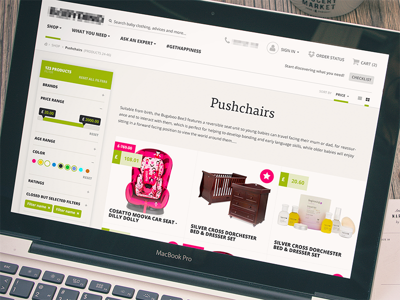 Online Store Category Sticky Sidebar Nav - Design - eCommerce sidebar widget filter shop magento store category product ecommerce sticky navigation website