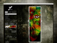 Oldschool website gallery/portfolio design mockup.