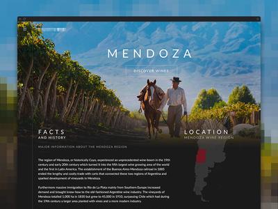 Wine Landing Page - Clean Website Design material clean dark hero home ui bootstrap ux design website wine vineyard