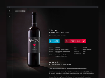 Wine Product Detail - clean eCommerce Detail Design