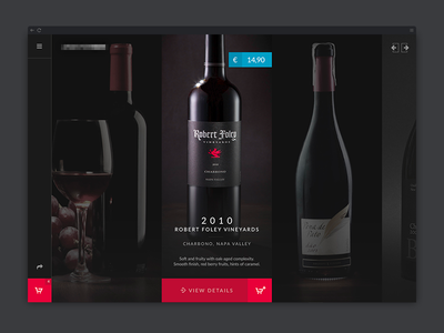 Wine Product List - Clean ecommerce Category Design clean dark list product webshop shop ecommerce products overview ui design