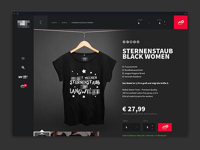 Online Store Product Detail - Design - Dark theme dark magento webshop shop product detail store ecommerce