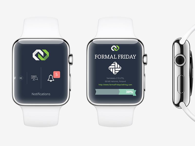 Apple Watch Notification + Profile prototype  ux layout desing saas platform profile company apple ios watch notifications