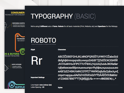 Typography rules inside Corporate Design - Google Fonts style