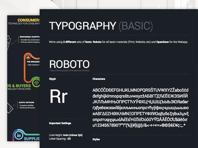 Typography rules inside Corporate Design - Google Fonts style print roboto headline typo cd ci design identity corporate typography google
