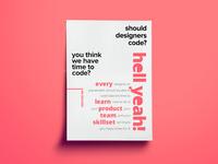 Designers DO Code