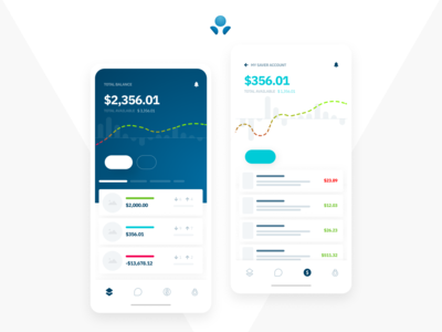 A clean finance, banking or crypto, wallet app ui / ux design