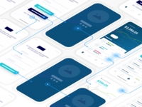 Crypto Wallet App Wireframe User Flow Customer Journey UX Design clean crypto wallet finance android ios app wireframes design mockup customer journey design thinking ux ui wireframe
