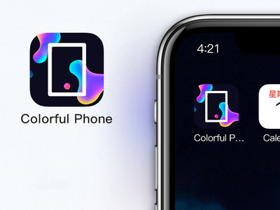 Colorful Phone icon app
