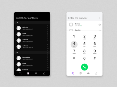 Colorful Phone-Black and white ui 设计 应用