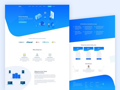 Cloud Hosting Landing Page
