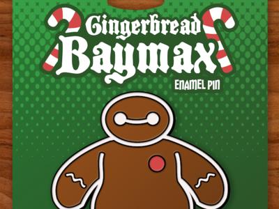 Gingerbread Baymax Enamel Pin