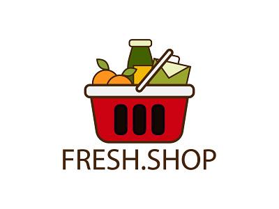 Grocery store logo. grocery store typography logo design vector graphic design illustration colorful adobe illustrator