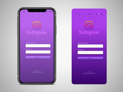 redesign the login screen of an  app. adobe photoshop iphon concept redesign app design ui graphic design illustration colorful figma