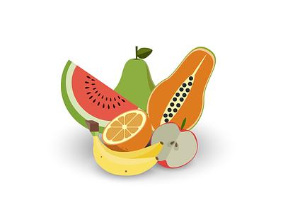 an icon or badge celebrating summertime. summertime fruits design vector graphic design illustration colorful adobe illustrator