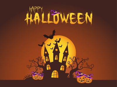 design something of Halloween  01 halloween trees icons design vector graphic design illustration colorful adobe illustrator
