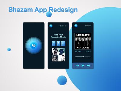 Shazam app redesign challenge. figma icons ux ui colorful illustration graphic design