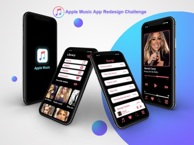 Apple Music App Redesign Challenge apple music redesign concept design illustration ios ios app