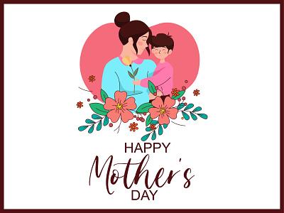 Mothers day illustration. ux branding ui flower design vector graphic design illustration colorful adobe illustrator