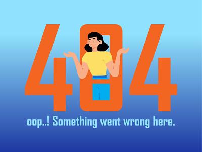 404 error page illustration. error page 404 design vector colorful illustration adobe illustrator graphic design