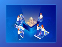 Isometric Illustration_Online Education_Concept_03
