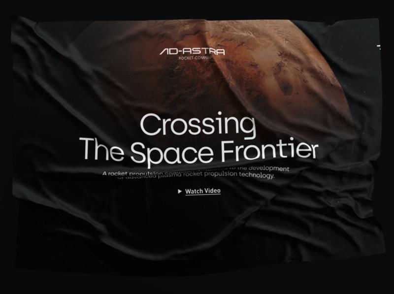 Ad Astra rocket mars space web ui typography branding design logo branding design