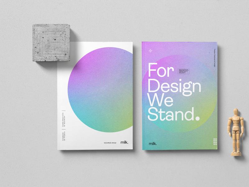 Milk Identity print gradient minimal costa rica typography icon illustration branding design logo branding design