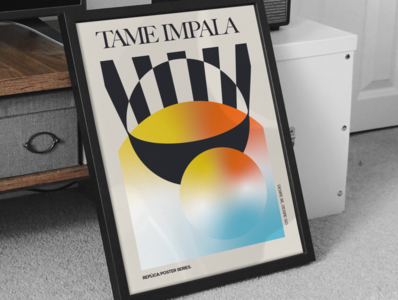 Tame Impala gradient costa rica illustration typography layout design poster art poster design poster