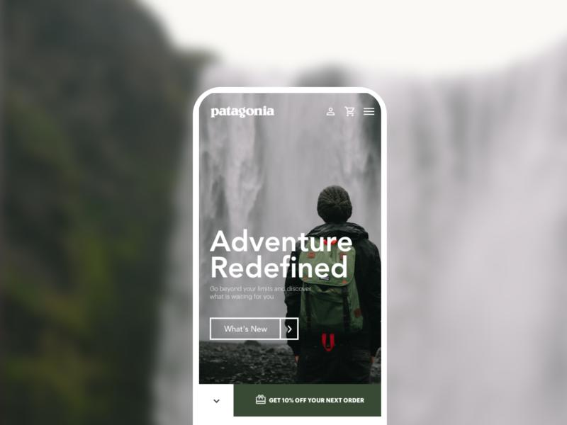 Patagonia Mobile mobile web  design web interface patagonia adventure redesign ui costa rica design