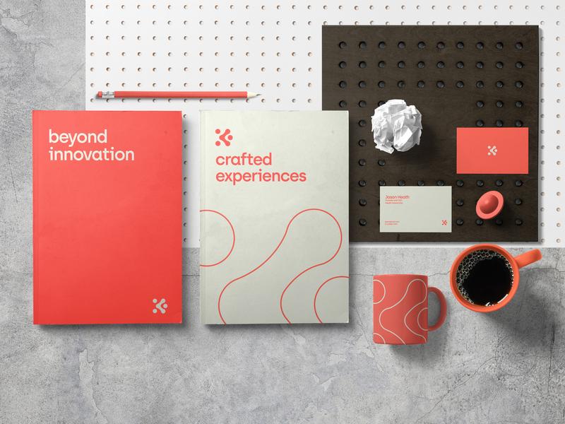 Heath Interactive Branding business card logo design vector packaging typography branding design logo branding design