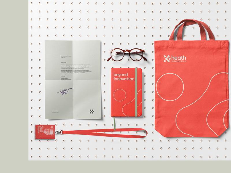 Heath Interactive Branding identidade visual identity design typography icon illustration branding design logo branding design