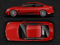 Bmw 4 Series Coupe Vector